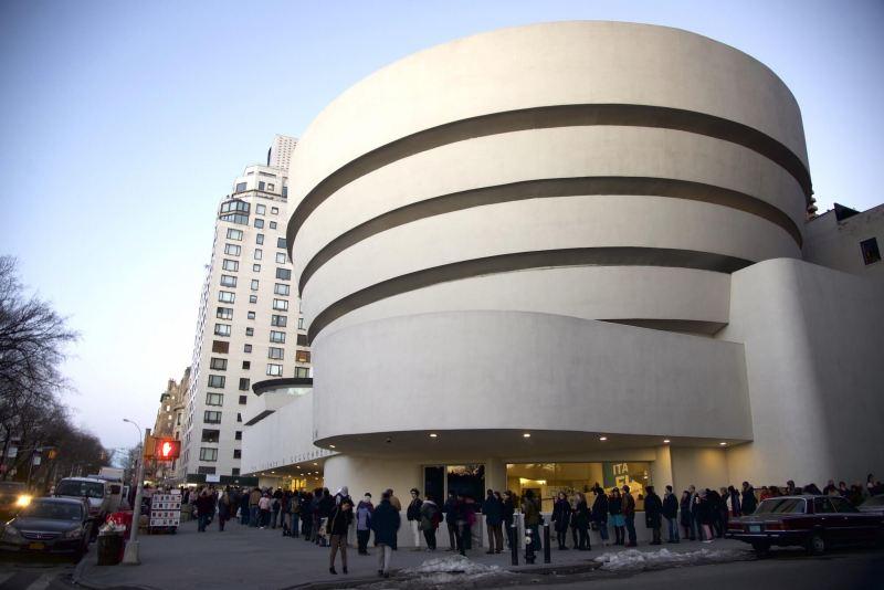 A Guggenheim Múzeum jellegzetes épülete