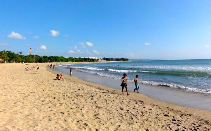 Egyik legismertebb part, Kuta