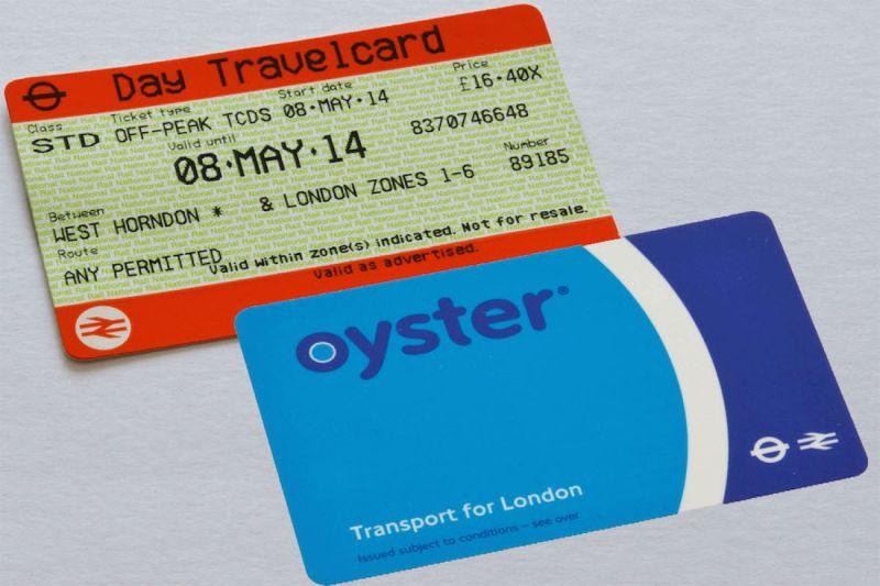A Travelcard és Oyster Card a két bérlettípus
