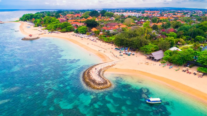Sanur a keleti partrész legismertebb strandja
