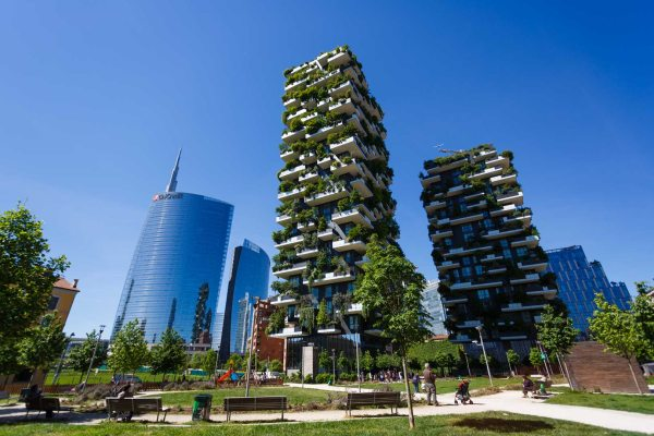 A két toronyépület valóban környezettudatos építésűek