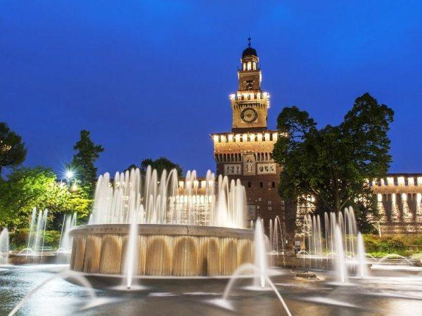 A Sforzesco kastély több múzeumnak is helyt ad