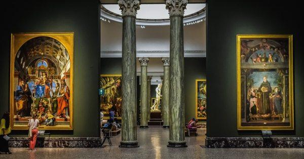 A Pinacoteca di Brera galériában neves alkotók remek festményei vannak