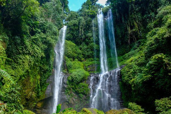 A Sekumpul az egyik legszebb vízesés