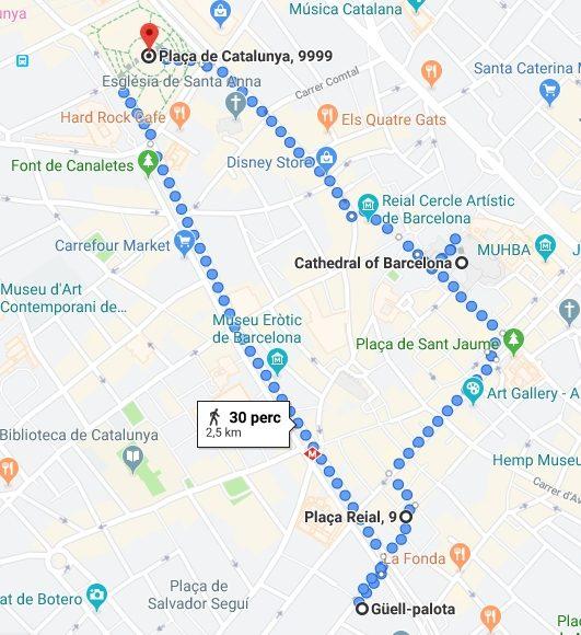 A La Ramblán és környékén pár látnivalót és egy ebédet be is tudunk iktatni