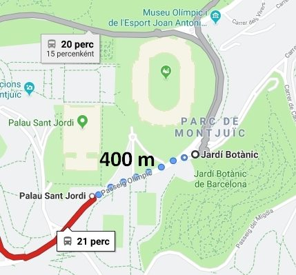 Kerttől irány a Placa Espanya, majd a Sagrada Familia
