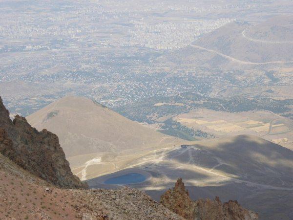 Erciyes-hegyről a kilátás