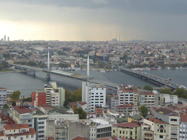 Kilátás a Galata-toronyból