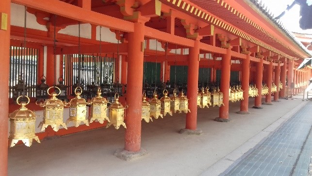 A Kasuga-taisha sintó szentély lámpásai