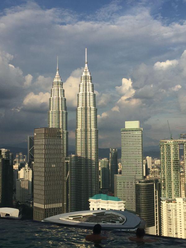 Fantasztikus kilátás a Petronas ikertoronyra