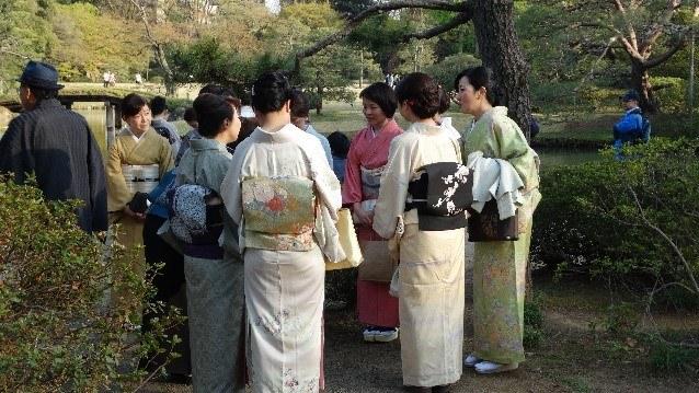 Japán nők kimonóban