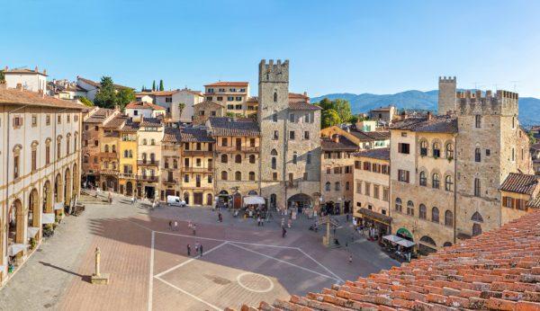 Arezzo központi tere