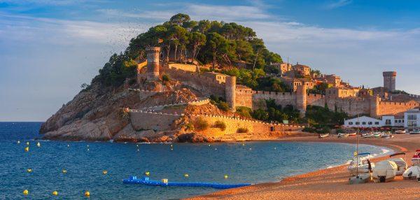 Tossa de Mar-nak csodás várából nagyon jó kilátás van
