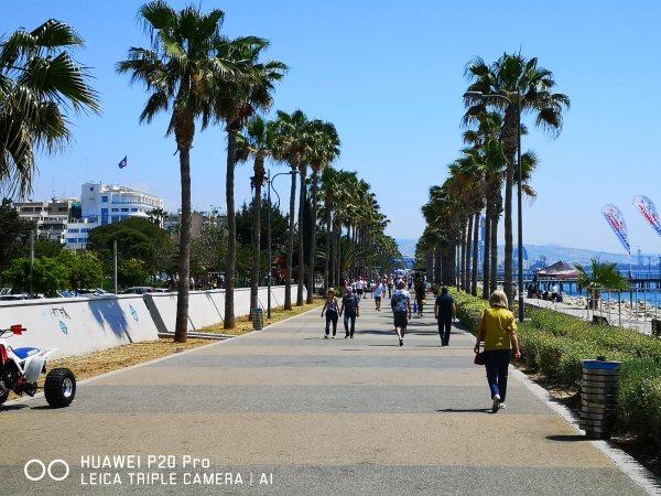 Limassol tengerparti sétánya