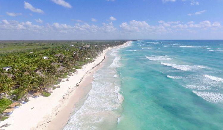 A Maya Riviéra egyik legszebb tengerpartja tulumnál található