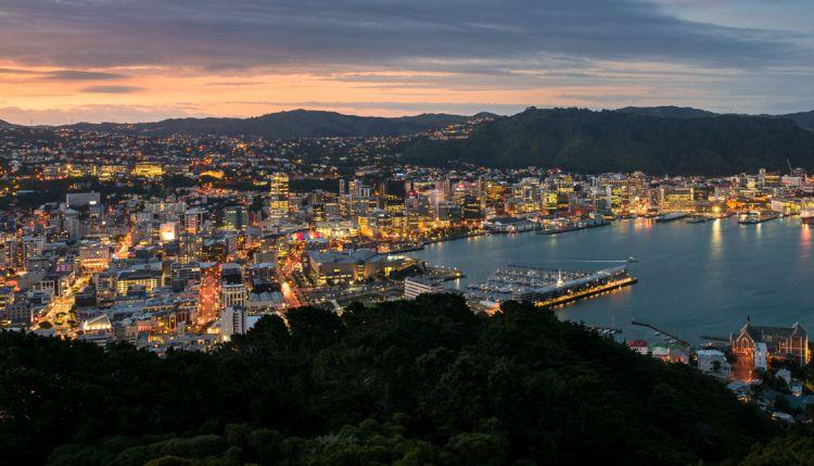 Új-Zéland fővárosa az Északi-sziget déli részén található