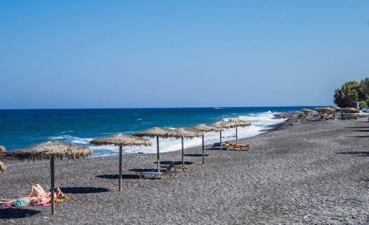 A fekete tengerpart Santorini legjobbja