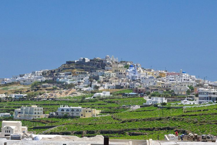 Santorini fővárosa volt régen
