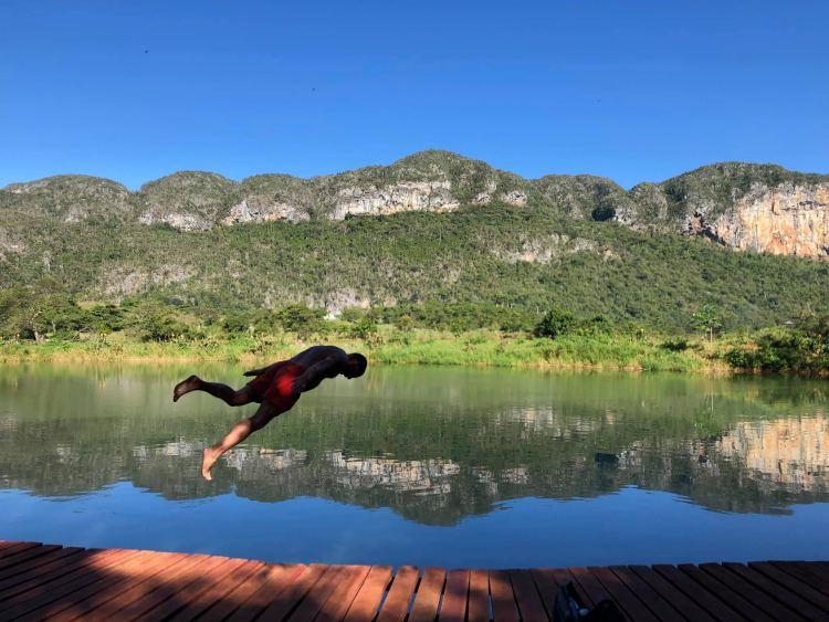 Vinalesi Lovas túra közben ebben a tóban lehetett csobbanni 🙂 egyszer élünk