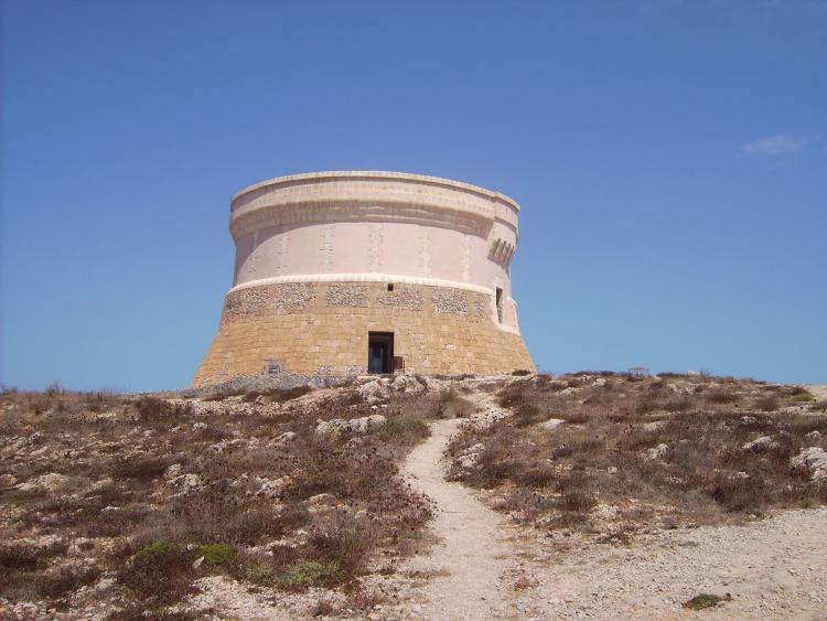 Az őrtorony a kalózok ellen épült