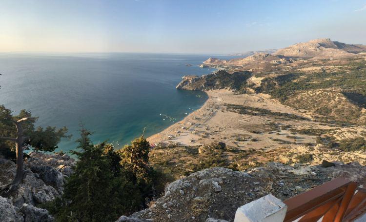 A Tsampika Rodosz legszebb tengerpartja, amely fentről nézve is csodás