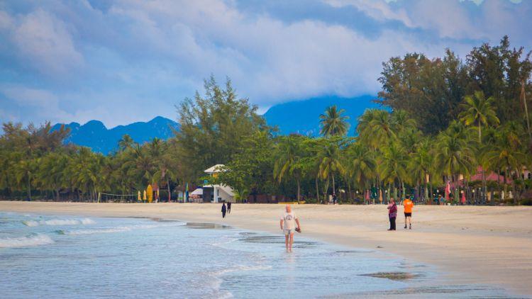 Cenang Langkawi központi tengerpartja