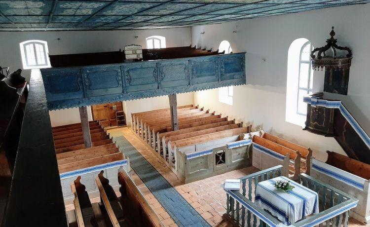 Csodálatos a templom és a festett mennyezete