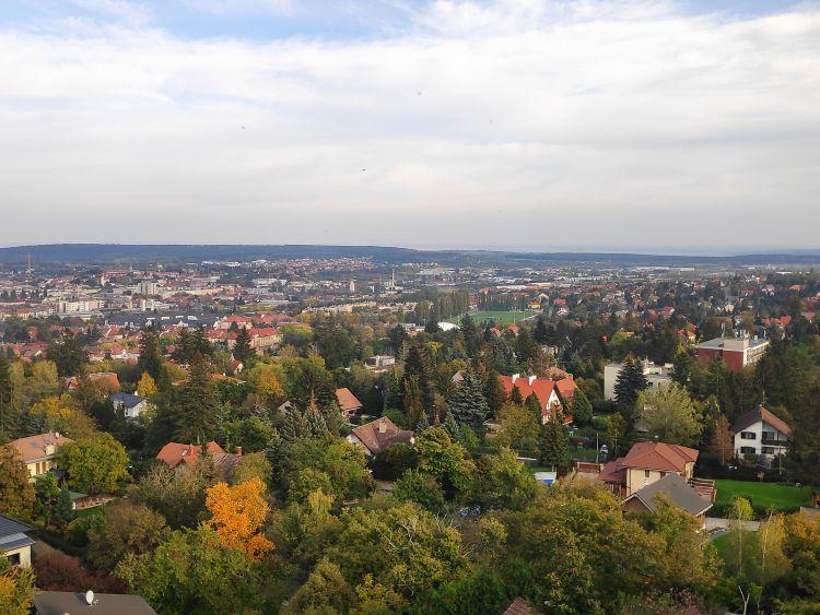 Kilátás a városban található kilátóból