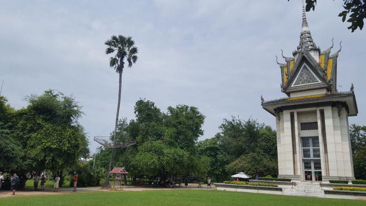 A múzeum területe a khmerek rémuralmát mutatja be