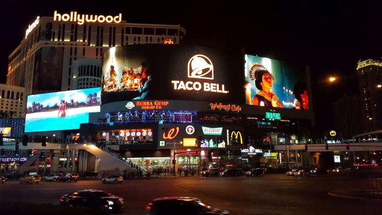 Las Vegas este egy hatalmas fényáradat