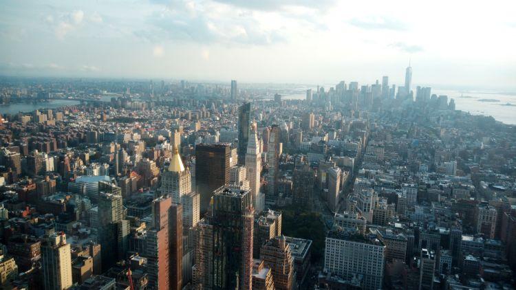 Csodás a kilátás a felhőkarcolókra