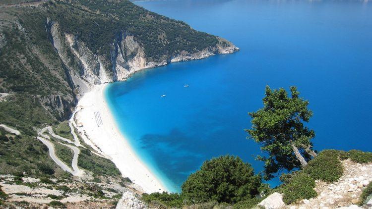 Myrtos többször is volt a legszebb görög tengerpart