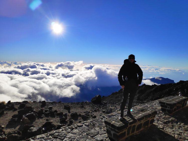 A felhők felett mindig kék az ég :) - Panorámakép a lefelé úton