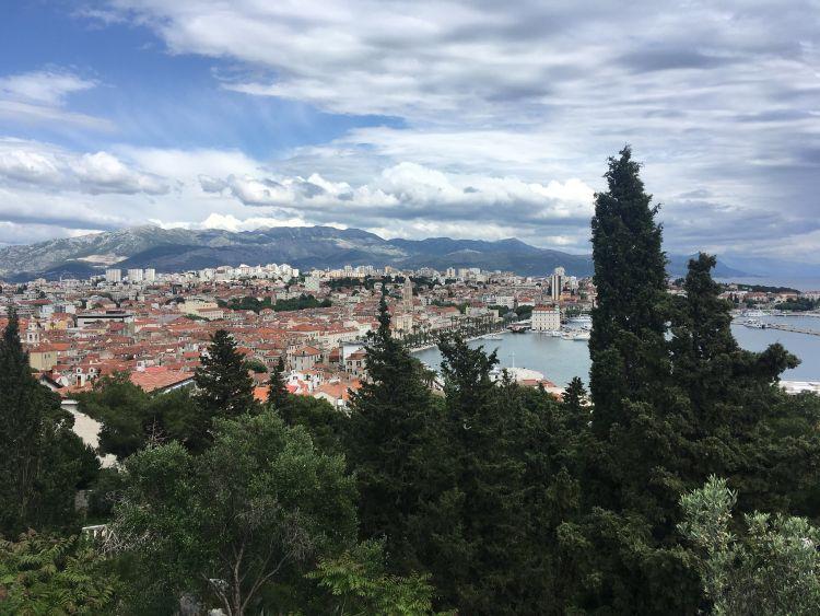 Split legjobb kilátóhelye a hegycsúcs