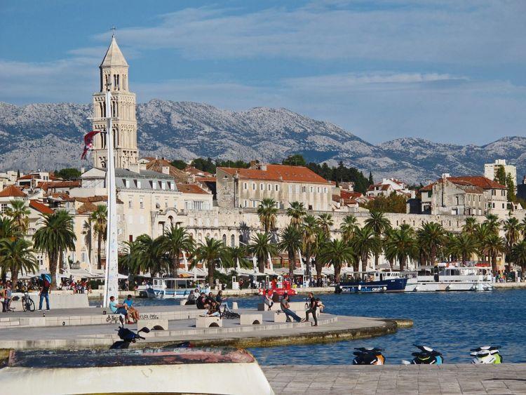 Split óvárosa a palota köré épült