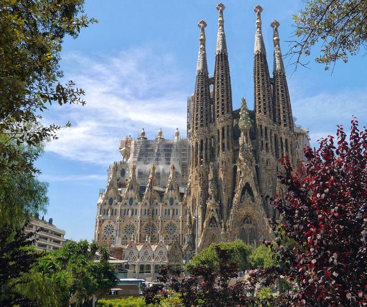 Barcelona egyik ikonikus épülete, a Sagrada Família