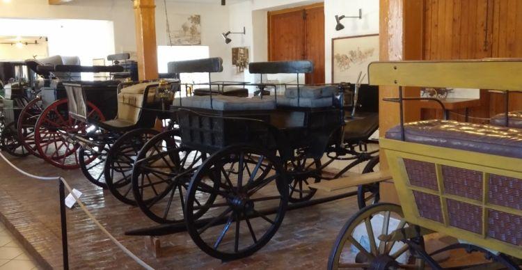 A Kocsimúzeumban régi hintókat láthatunk