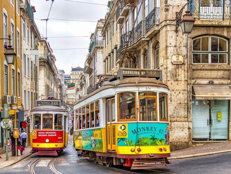 A villamosok Lisszabon jellegzetességei