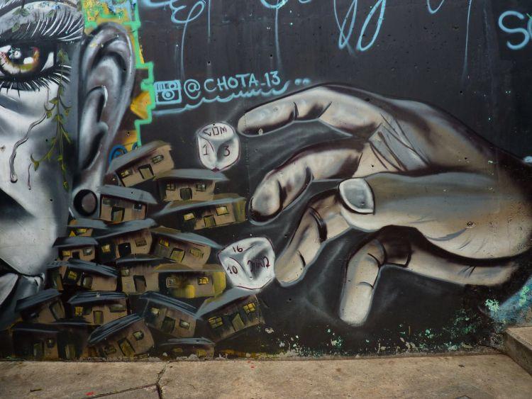 Falfestmény Medellinben