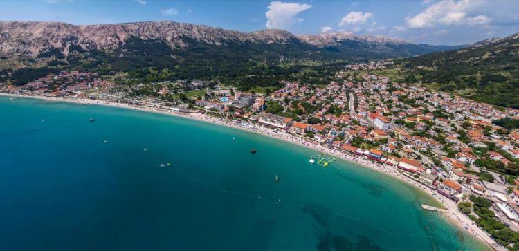Krk-sziget legszebb strandja a Baska
