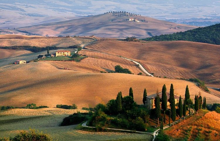 Toszkána elbűvölően szép bortermelő vidék
