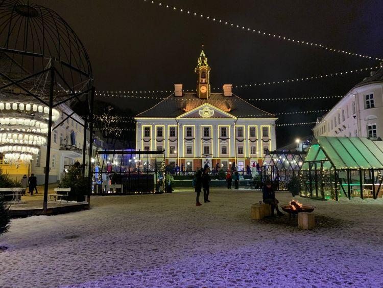 Tartu városa télen